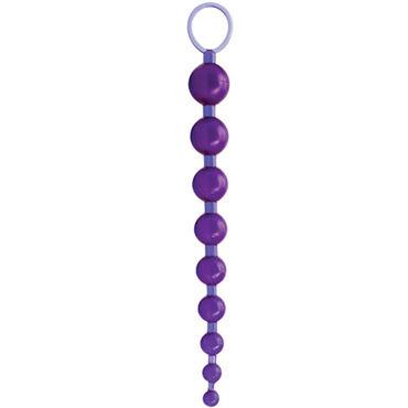 Topco Sex Please! Sexy Beads, фиолетовый Анальные шарики с кольцом-держателем