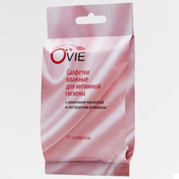 Ovie влажные салфетки, ромашка, Пропитаны молочной кислотой