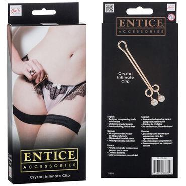 California Exotic Entice Crystal Intimate Clip Зажим с кристаллом для половых губ