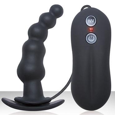 NS Novelties Tinglers Plug I, черный Изогнутая вибропробка с ограничителем