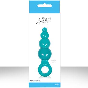 NS Novelties Jolie Ripples, голубой Малая анальная пробка с держателем