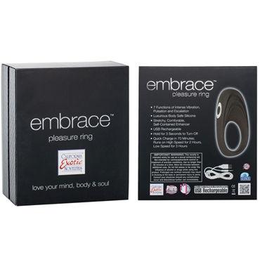 California Exotic Embrace Pleasure Ring, серый Эрекционное виброкольцо с usb-зарядкой