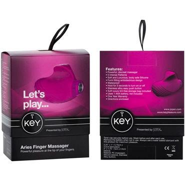 Jopen Key Aries, розовый Мощная вибронасадка для пальцев