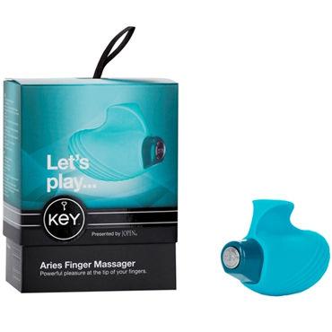 Jopen Key Aries, голубой Мощная вибронасадка для пальцев