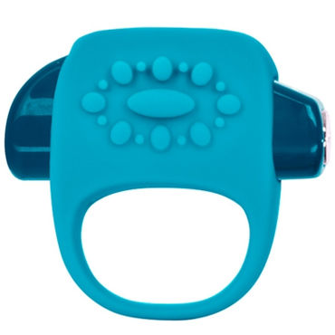 Jopen Key Halo, голубой Виброкольцо со стимуляцией клитора