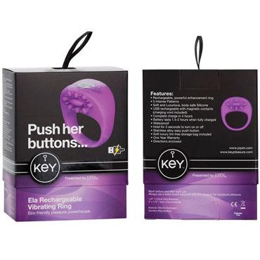 Jopen Key Ela, фиолетовый Виброкольцо с перезаряжаемым аккумулятором