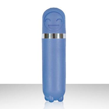 NS Novelties Emoticons Mini Vibe Bullet, голубой Вибропуля с забавной рожицей