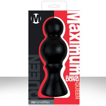 NS Novelties Maximum Pleasure Dong, черный, Анальная пробка в виде шахматной королевы