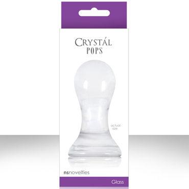 NS Novelties Crystal Pops, прозрачный Стеклянная пробка большого размера