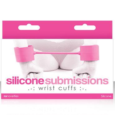 NS Novelties Silicone Submissions Wrist Cuffs, розовый, Мягкие силиконовые наручники