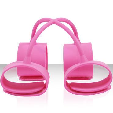 NS Novelties Silicone Submissions Hog Tie Cuffs, розовый Набор силиконовых фиксаторов