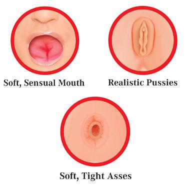 Pipedream Slutty Sisters Две сестрички с вагиной и анусом