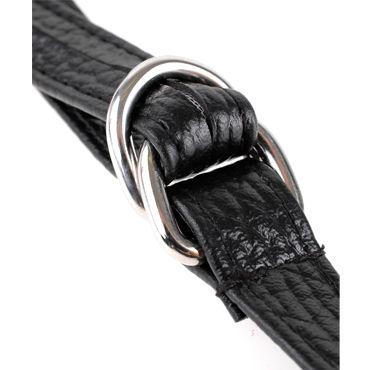 Pipedream Leather Fantasy Harness Трусики для страпона с вибропулей и пультом ДУ