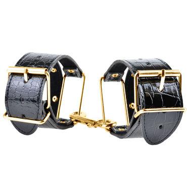38011 Стильные наручники с золотой пряжкой