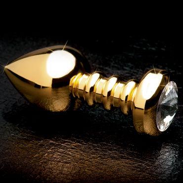 Pipedream Gold Luv Plug Анальная пробка с большим кристаллом