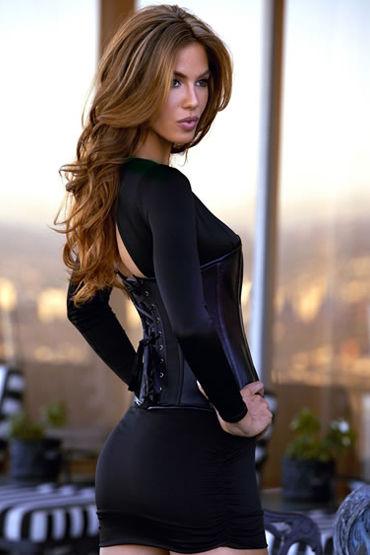 Baci Essential Satin & Leather Corset Классический корсет на косточках