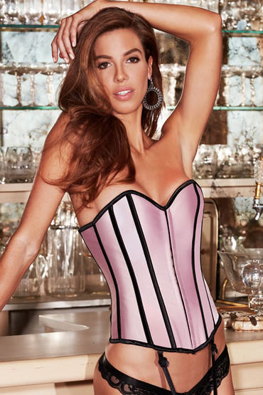 Baci Satin Heart Corset, �������, ������ � ���������� ��� ����� - ������ XL