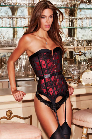 Baci Satin and Lace Corset, ������-������, ������ � ��������� �������� - ������ M