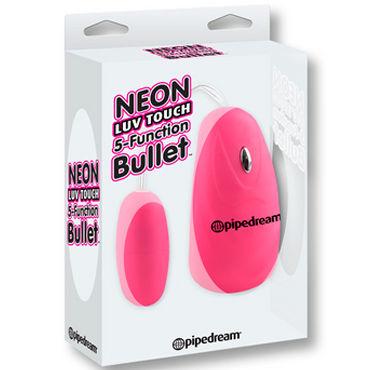 Pipedream 5 Function Bullet, розовый Компактная вибропуля
