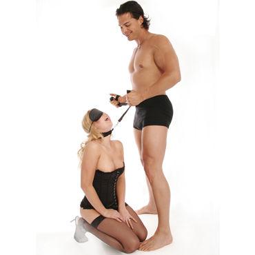 Pipedream Набор BDSM Наручники с захватами, поводок, маска, ошейник