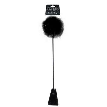 Pipedream Feather Crop Черный стек с пушком на конце