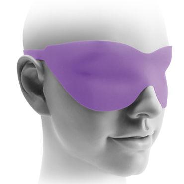 Pipedream Fetish Fantasy Elite 17,5 см, фиолетовая Вибрирующая насадка для страпона + маска