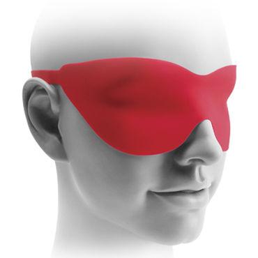 Pipedream Fetish Fantasy Elite 22,5 см, красная Вибро-насадка с изогнутой головкой + маска