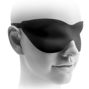 Pipedream Fetish Fantasy Elite 22,5 см, черная Стимулятор на присоске, водонепроницаемый+ маска