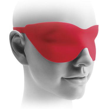 Pipedream Fetish Fantasy Elite 25 см, красная Вибро-насадка с изогнутой головкой + маска