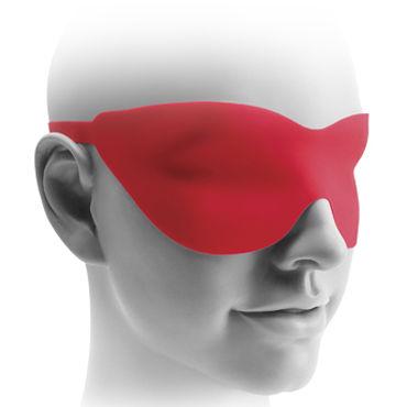 Pipedream Fetish Fantasy Elite 25 см, красная Вибро-насадка на присоске + маска