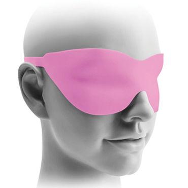Pipedream Hollow Strap-on 18 см, розовый Полый фаллоимитатор с ремешками + маска