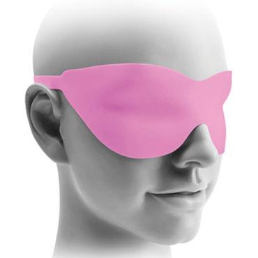 Pipedream Hollow Strap-on 20 см, розовый Полый фаллоимитатор с ремешками + маска