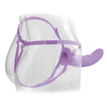 Pipedream Vibrating Hollow Strap-on 20 см, фиолетовый Полый фаллоимитатор с вибрацией + маска