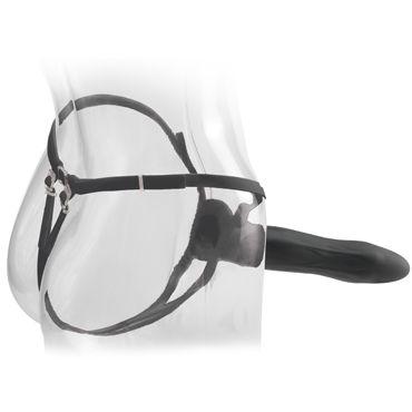 Pipedream Hollow Strap-on 22,5 см, черный Полый фаллоимитатор с ремешками + маска