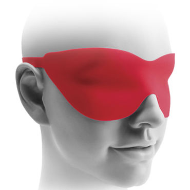 Pipedream Fetish Fantasy Elite 22,5 см, красная Вибро-насадка с пультом + маска