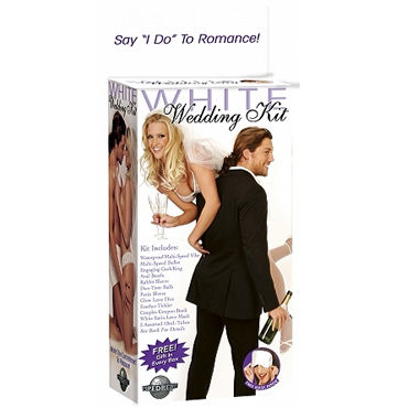Pipedream White Wedding Kit Вибратор, насадка, шарики, кольцо, маска и кубик