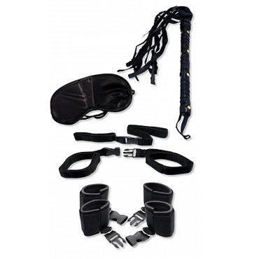 Pipedream Bedroom Bondage Kit Наручники, наножники, маска, плетка