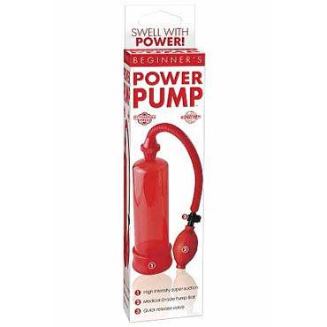 Pipedream Beginners Power красный Мужская помпа с грушей