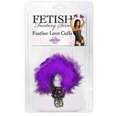 Pipedream Feather Love Cuffs фиолетовый Наручники с перышками
