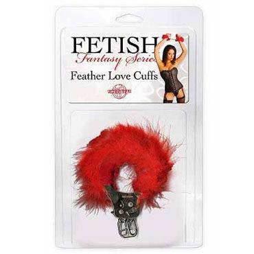 Pipedream Feather Love Cuffs красный Наручники с перышками