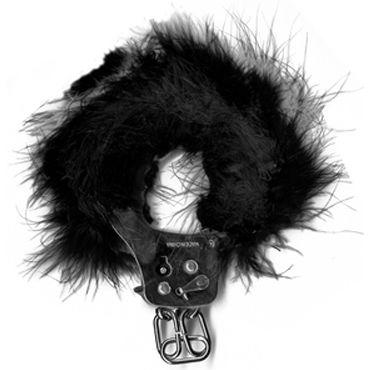 Pipedream Feather Love Cuffs черный Наручники с перышками