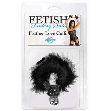 Pipedream Feather Love Cuffs черный, Наручники с перышками
