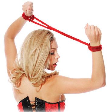 Pipedream Silk Love Cuffs красный Шелковые веревки для фиксации