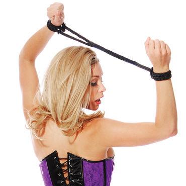 Pipedream Silk Love Cuffs черный Шелковые веревки для фиксации