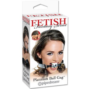 Pipedream Platinum Ball Gag, Кляп из кожи