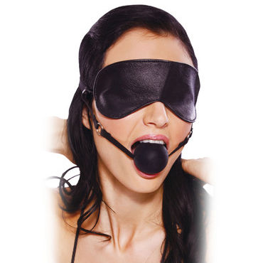 Pipedream Blindfold Ball Gag Маска с кляпом