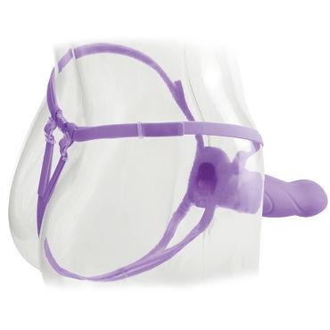 Pipedream Vibrating Hollow Strap-on 18 см Страпон на ремешках с вибрацией + маска