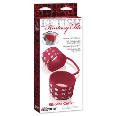 Pipedream Silicone Cuffs красный, Оковы для ног на ремешке