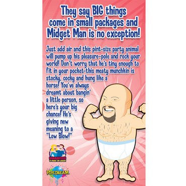 Pipedream Midget Man Миниатюрная надувная кукла