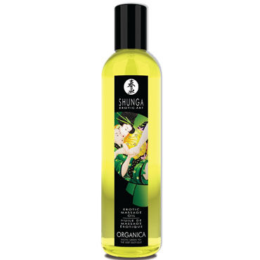 Shunga Organica, 250 мл, Массажное масло, зеленый чай